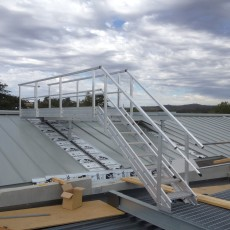 Aluminium Safety Stairs with handrails for safe roof access - Universal Height Safety Bendigo