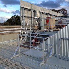 Aluminium Plant Platform, Pit Lid, Guardrail and Aluminium Stairs - Universal Height Safety Bendigo