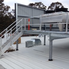 Aluminium Stairs with Handrails & Plant Platform - Universal Height Safety Melbourne