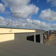 Perimeter Roof Safety Handrail - Universal Height Safety