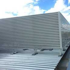 Aluminium Louvre Screen for Plant Equipment Screening & Ventilation - featured- Universal Height Safety