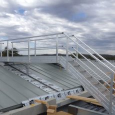 Aluminium Stairs for roof access and safety - Universal Height Safety