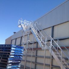 Aluminium Stairs for Safe Roof Access - Universal Height Safety