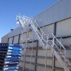 Aluminium Stairs - safe roof access - Universal Height Safety